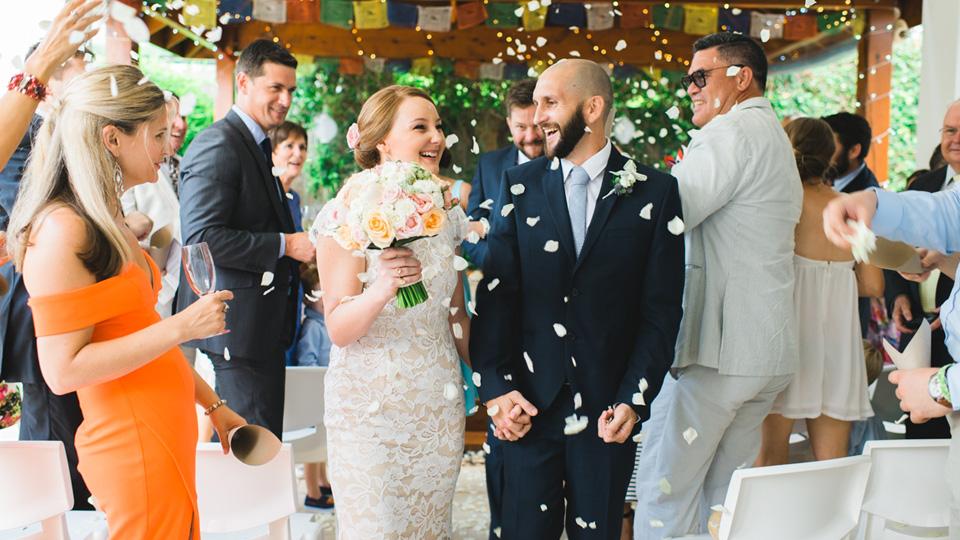 Ceremony exit photo by Melbourne Wedding Photographers, Lionheart Photography