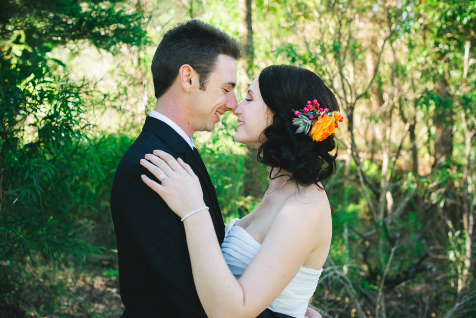 A portrait of Danica and Ben, the new husbane and wife. Lionheart Photography.
