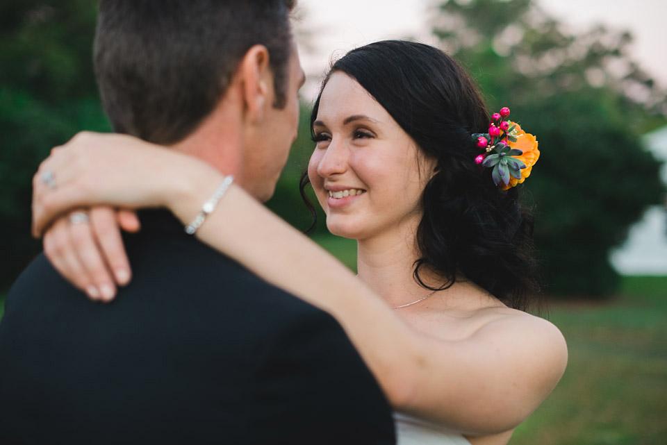 Portrait of Danica & Ben, bride and groom.