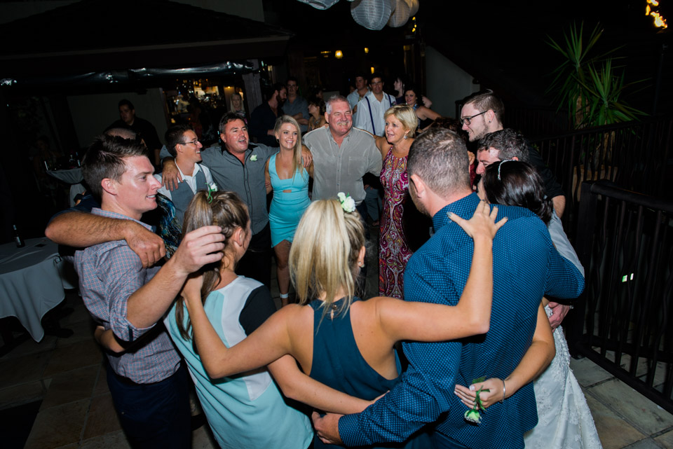 Father daughter wedding dance at the reception of Leah's Airlie Beach Wedding
