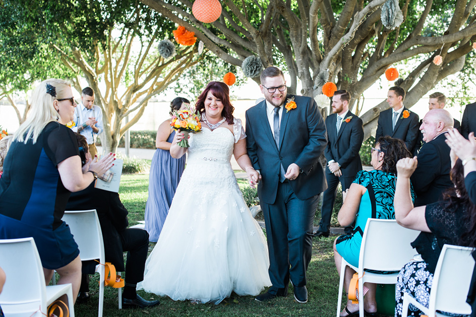 A shot from a second photographer at the wedding ceremony