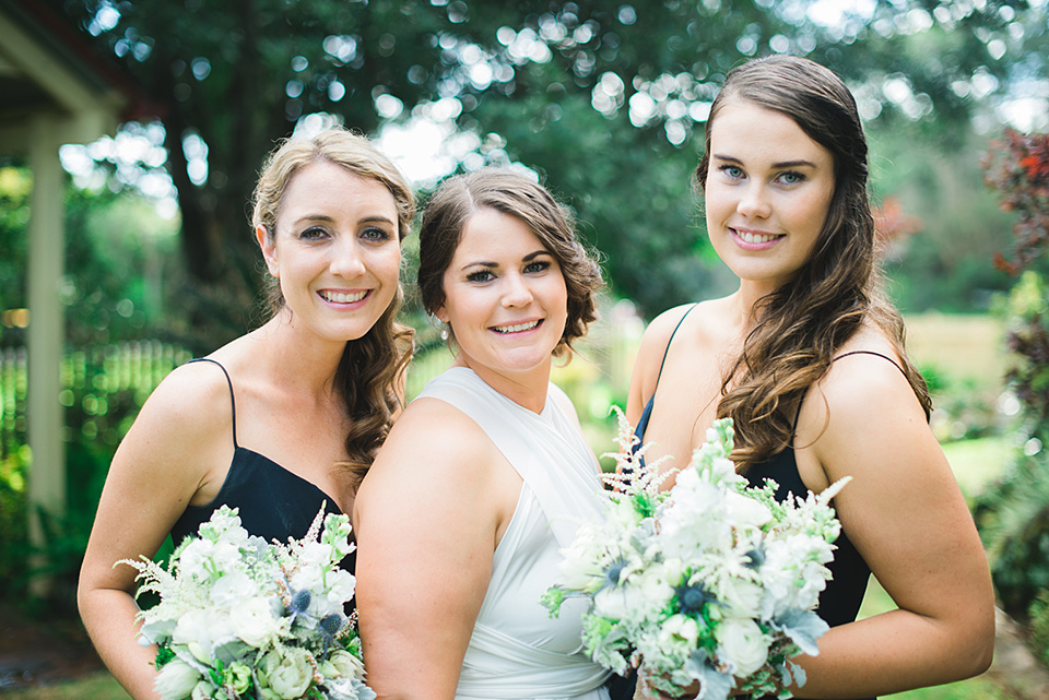 Photo of the Bride and Bridesmaids.