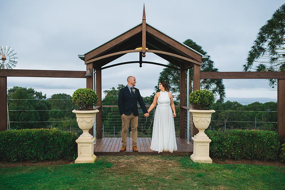 Georgie and Jamie, Flaxton Gardens weddings