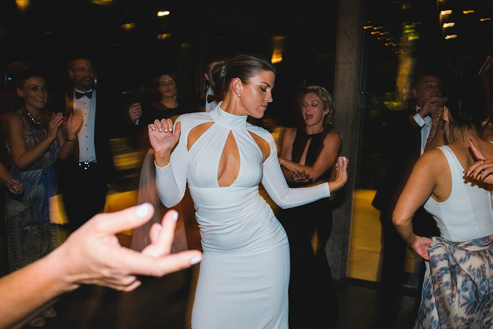 The Bride dancing at her Stones of the Yarra Valley wedding reception.