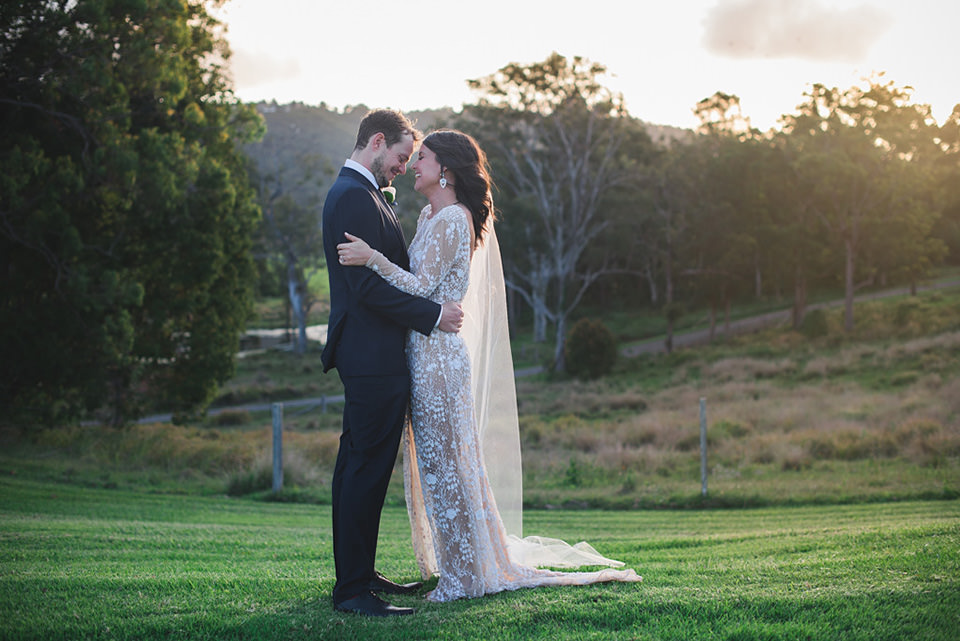 The bride and groom's Yandina Station wedding photos