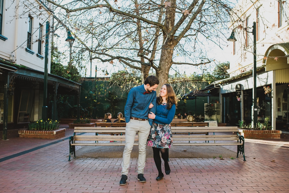 Kirsty & Tim's engagement shoot in Canterbury Gardens.