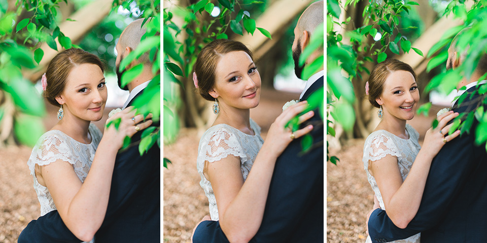 Photos of the Bride at Wirreanda Park wedding on the Sunshine Coast.