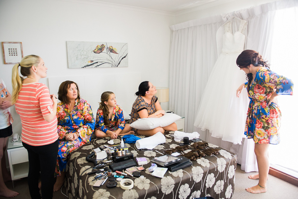 Photos of Getting ready for Noosa Wedding