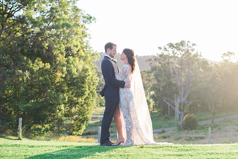 The bride and groom photos at Yandina Station