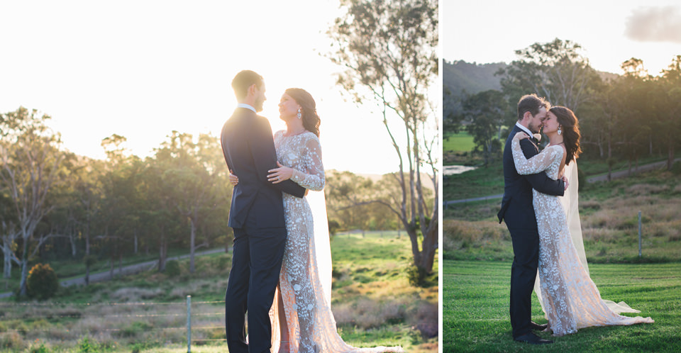 The bride and groom photos at Yandina Station wedding photos