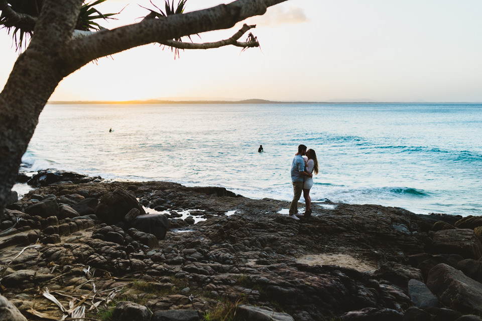 wedding photography at sunset in noosa.