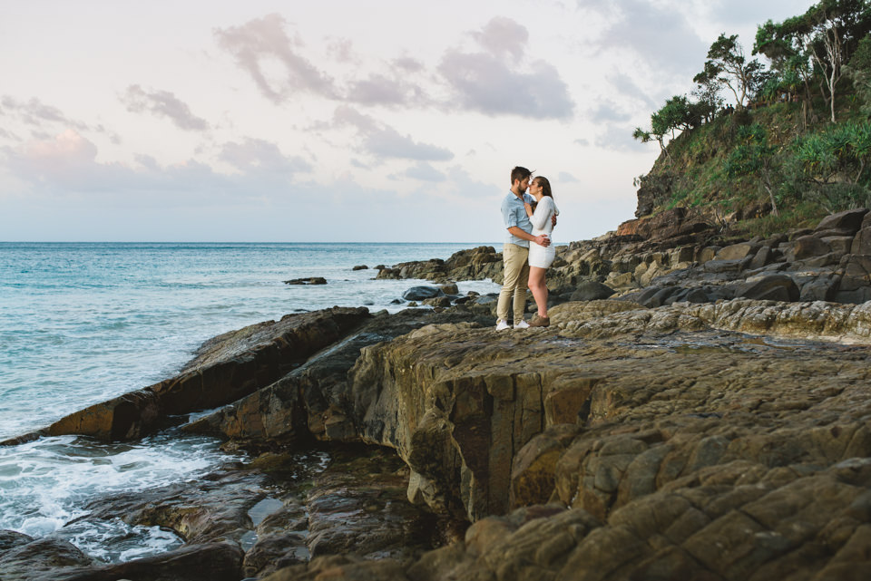 Sunset engagement shoot in Noosa with Scott & Steph