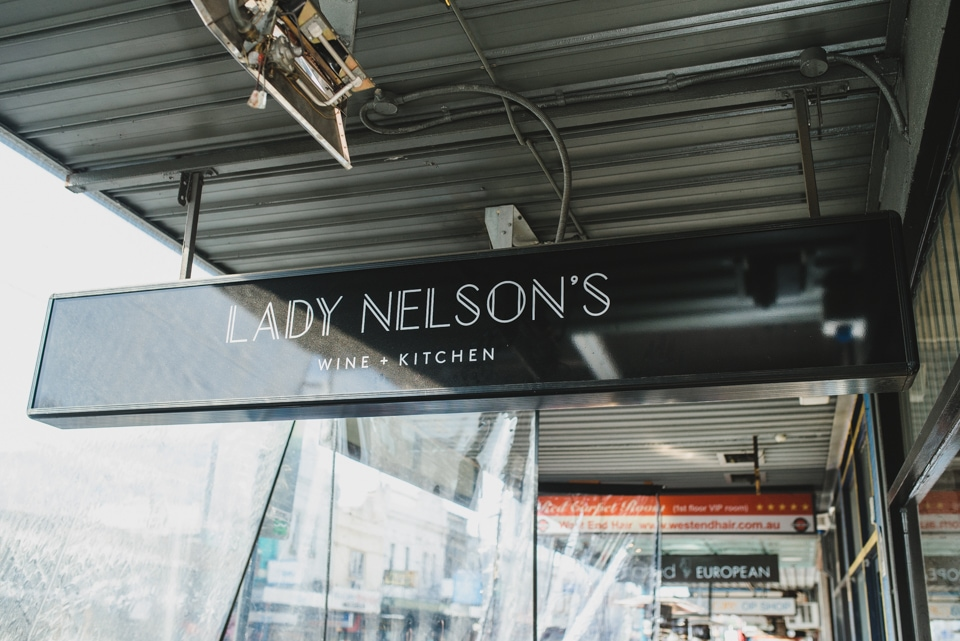Lady Nelson's wine and kitchen on Chapel Street, Windsor, in Melbourne.