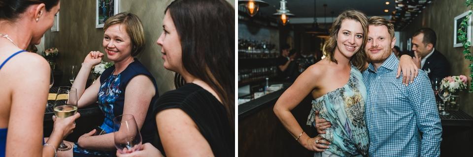 Photos of guests talking. Windsor Melbourne wedding.