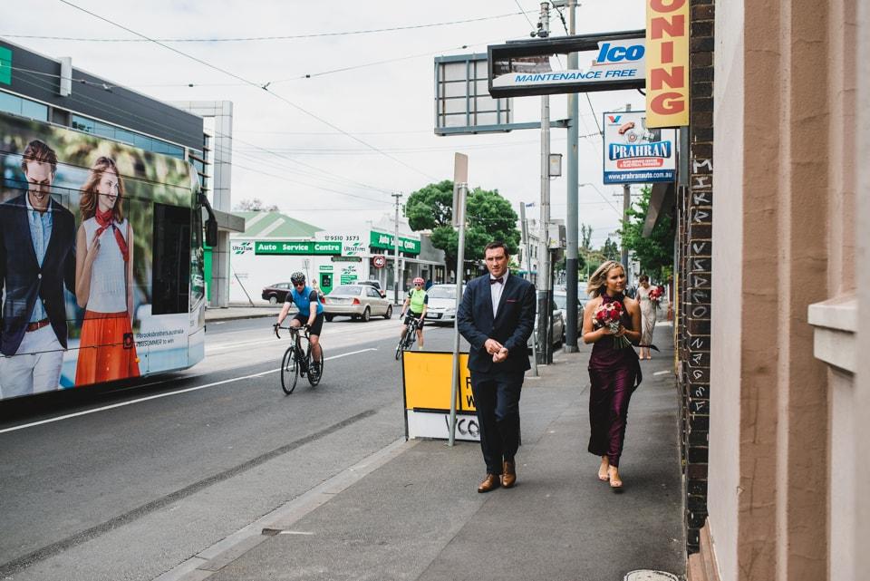 Walking down Chapel Street in Windsor, Melbourne.