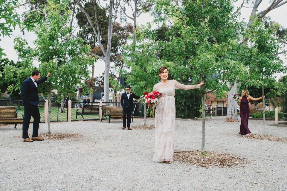 Fun bridal party photos during their Prahran Wedding.