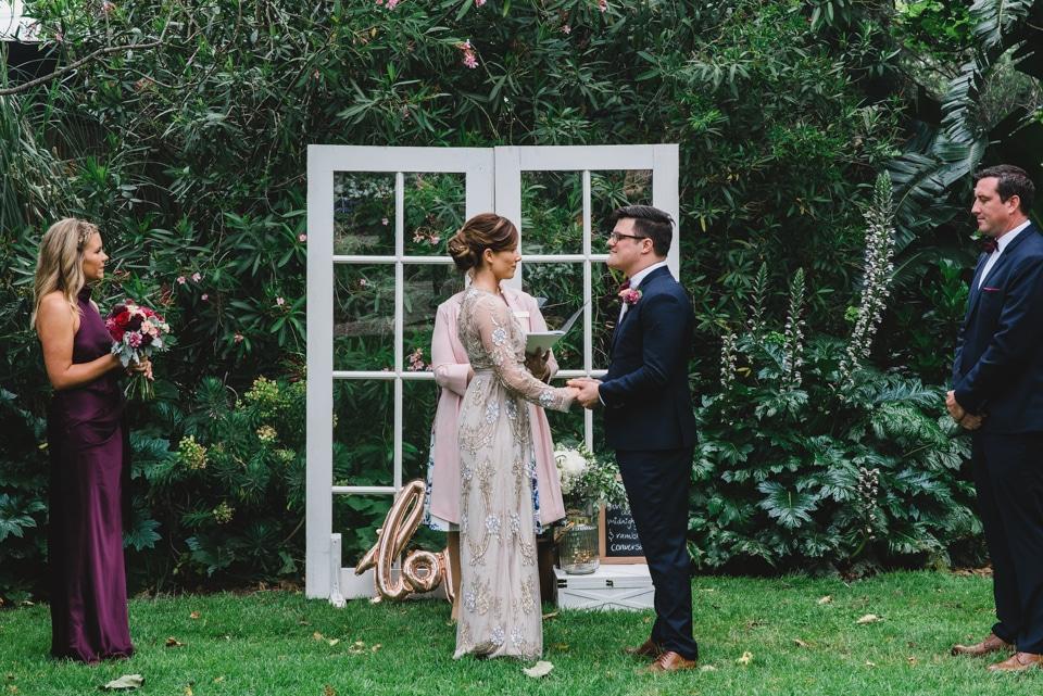Victoria gardens prahran wedding ceremony.