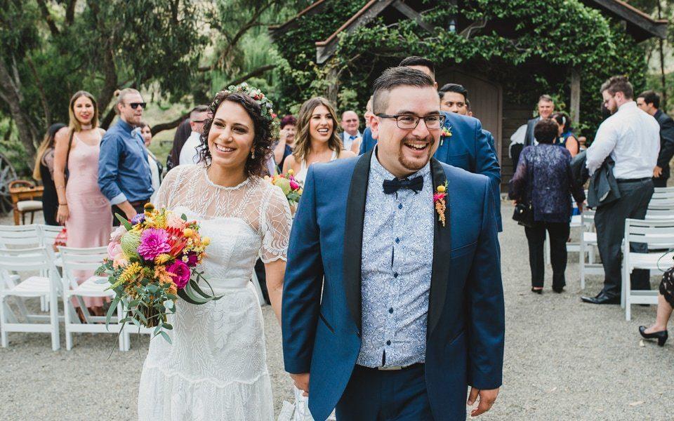 Carla & Daniel at their Inglewood Estate wedding in the Yarra Valley.