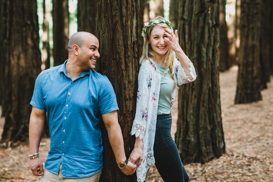 Megan & Paul's engagement session at Redwood Forest