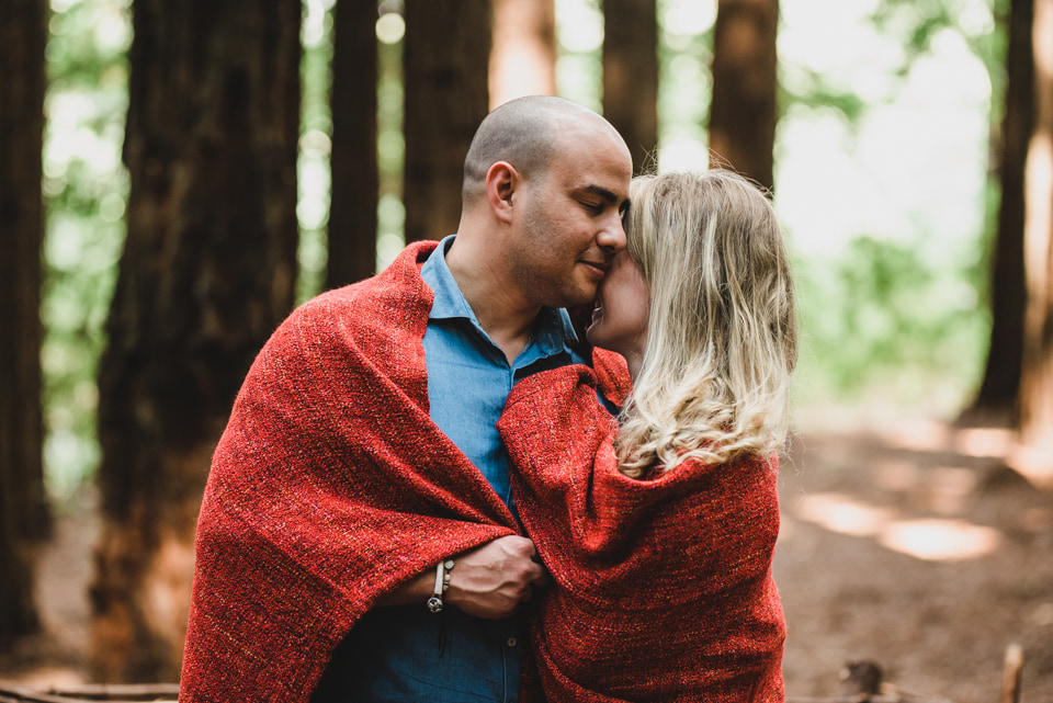 Megan & Paul's engagement session at Redwood Forest in the Yarra Valley. Lionheart Photography.