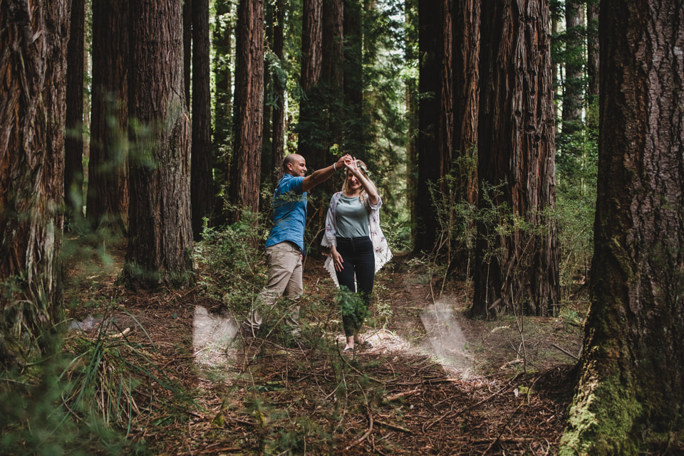 Dancing in Redwood Forest, Yarra Valley.