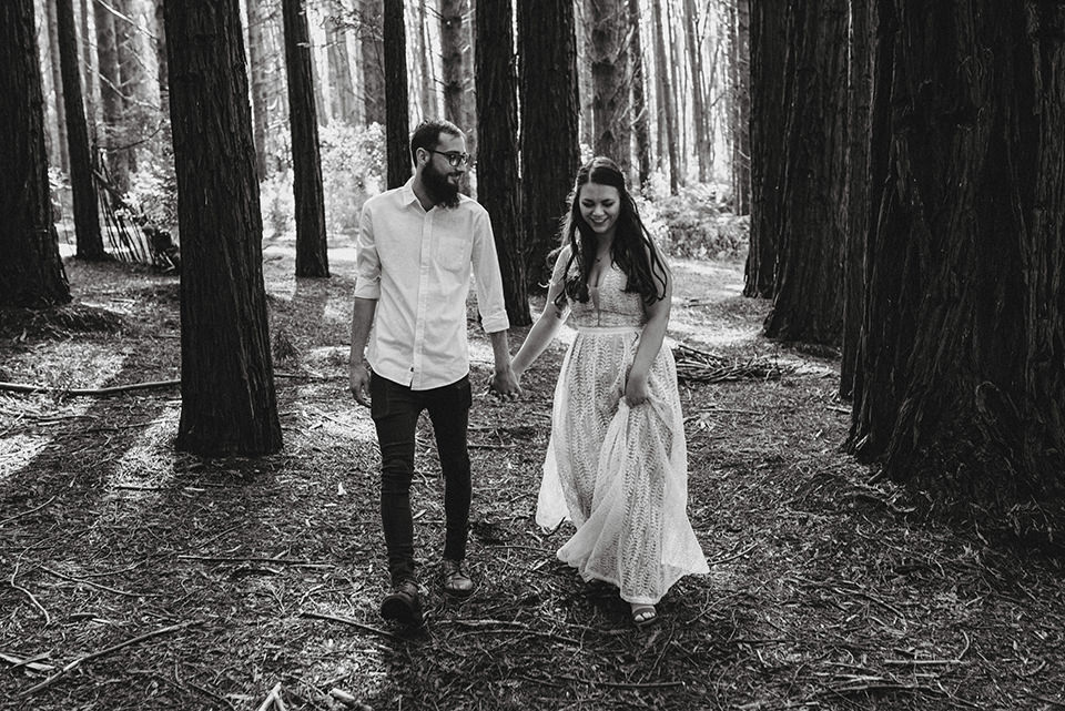 Engagement shoot with Hayley & Nick at Redwood Forest, Warburton, in the Yarra Valley.