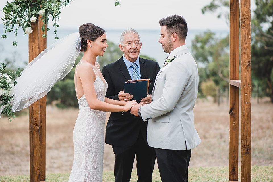 Ashlee & Chris at their Terindah Estate wedding.