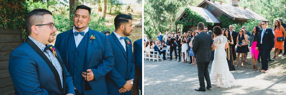 Inglewood estate wedding ceremony for Carla & Dan