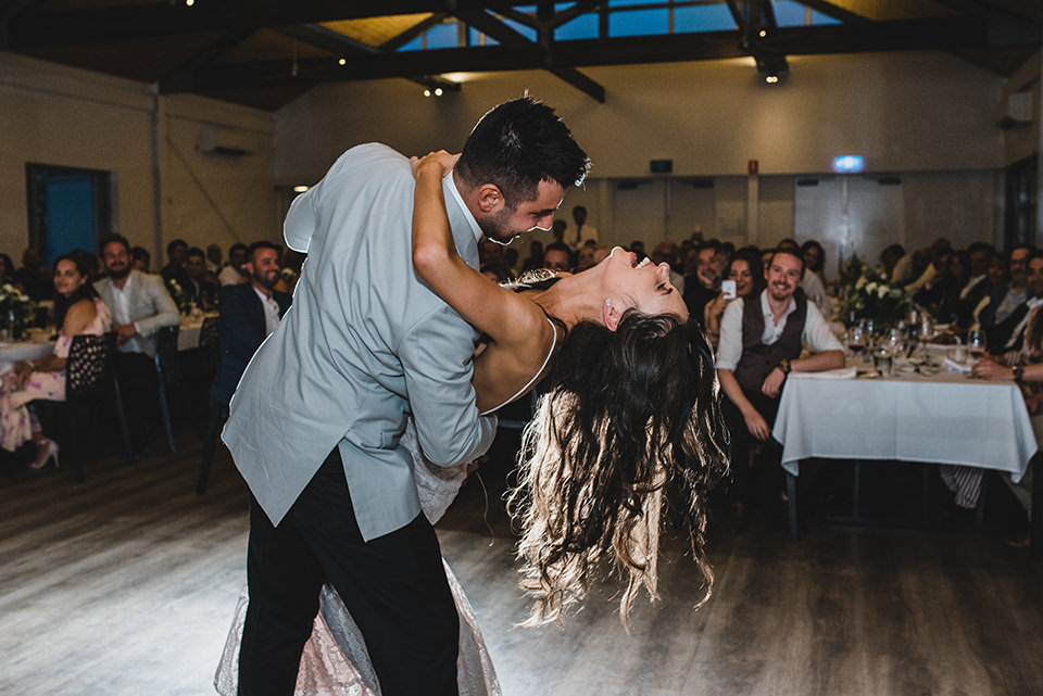Bride and Groom's first dance at Terindah Estate wedding.
