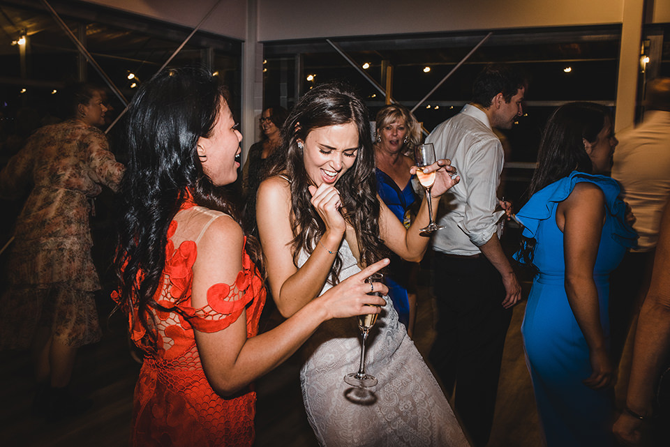 Ashlee dancing with wedding guests