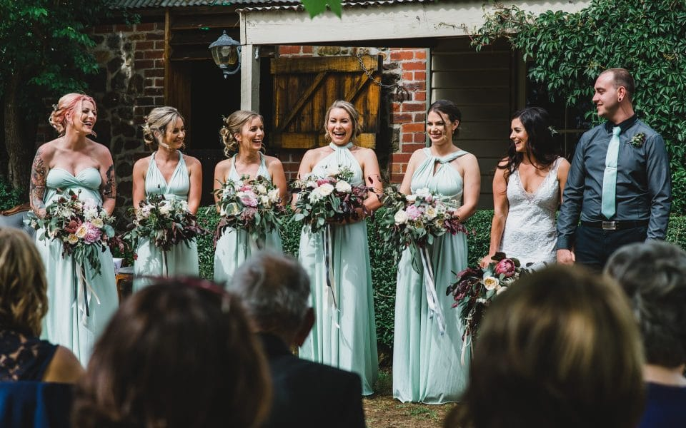 The bridal party, Quirindi Stables wedding ceremony.