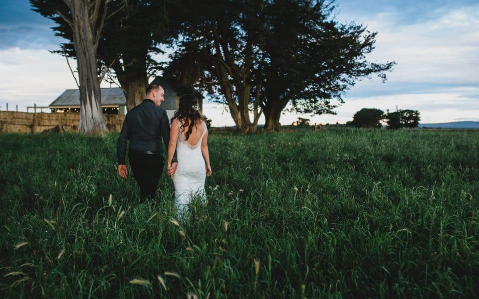 Quirindi Stables wedding photography by Lionheart. Bride & Groom at Sunset.