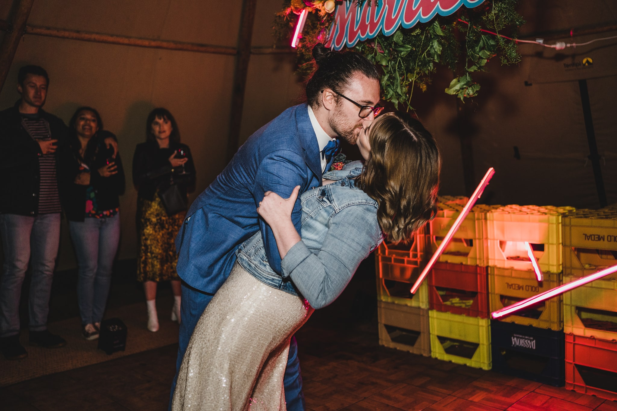 Kate & Brodie's first dance under the tipi.